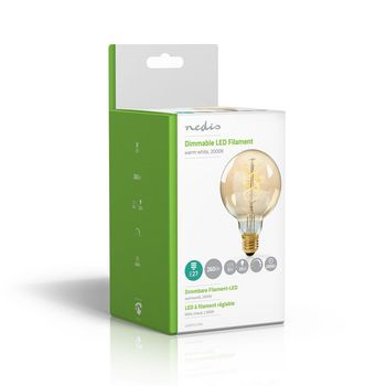 Dimmable LED Vintage Filament Lamp E27 | G95 | 5 W | 260 lm
