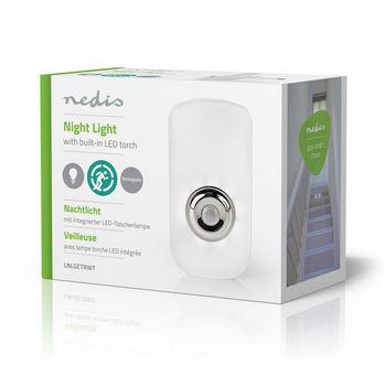Plug-In LED Night Light and Torch | Day/Night Sensor | Motion Sensor