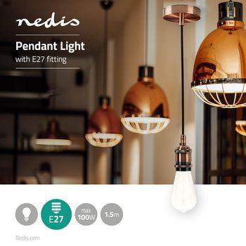 Pendant Light | E27 | Copper | 1.50 m
