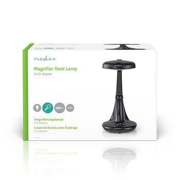 Magnifier Table Lamp   12 W   6400 K   Black