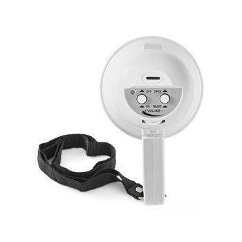 Megafon mmikrofon 15W (100m) Hvit Nedis