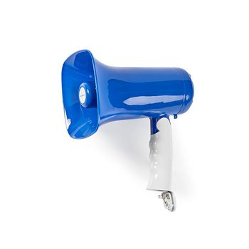 Megaphone | Maximum range: 300 m | Volume control: Up to 115 dB | Built-In Microphone | Built-in siren | Bluetooth® | Recording function | Blue/White