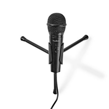 Wired Microphone | On/Off Button | With Tripod | 3.5 mm