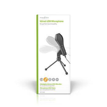 Kabelgebundenes Mikrofon | Doppelkondensator | Mit Stativ | USB