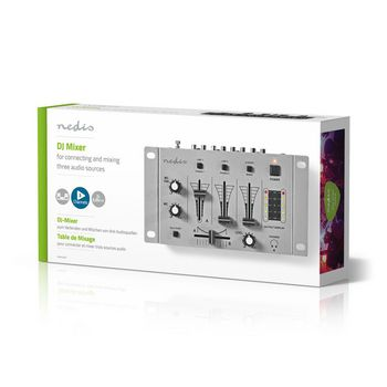 DJ Mixer | 3 Stereo Channels | Crossfader | Talkover Function