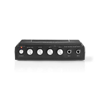 Karaoke Mixer Set | 2 Microphones Included | Black