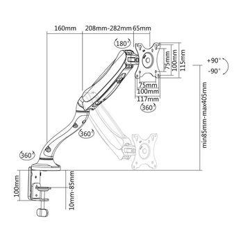 "Desk Monitor Mount | Single Monitor Arm | Full Motion | 10-32 """