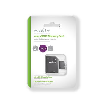 Memory Card | microSDHC | 16 GB | Writing up to 90 Mbps | Class 10