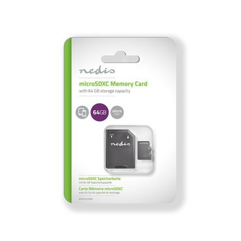 Memory Card | microSDXC | 64 GB | Writing up to 90 Mbps | Class 10