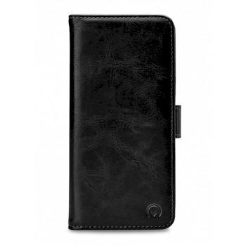 Weiches Soft Touch-Bookcase mit PortemonnaieSamsung Galaxy S21+ Black
