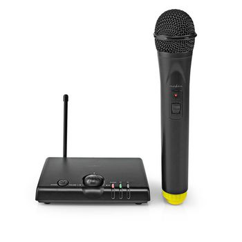 Wireless Microphone Set | 1 Channel | 1 Microphone | Cardioid | 40 Hz - 15 kHz | 1500 Ohm | -97 dB | Volume control | Black