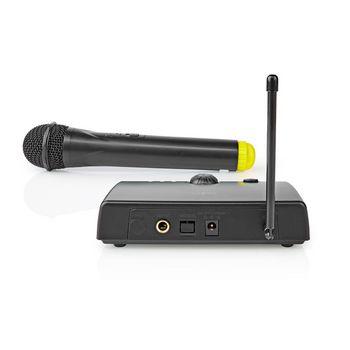 Wireless Microphone Set | 1 Channel | 1 Microphone | Cardioid | 40 Hz - 15 kHz | 1500 Ohm | -97 dB | Volume control | Black