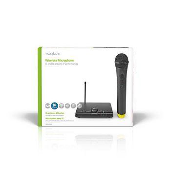 Vezeték nélküli mikrofon szett | 1 Mikrofon | Kardioid | 40 Hz - 15 kHz | 1500 Ohm | -97 dB | Hangerő szabályozás | Fekete