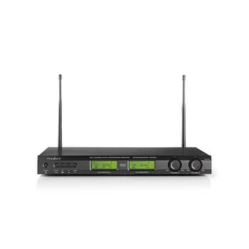 Set microfono wireless | 2 microfoni | Cardioide | 40 Hz - 15 kHz | 600 Ohm | -93 dB | Controllo del Volume | Nero/Grigio
