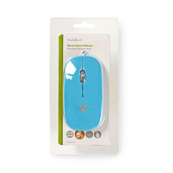 Wired Mouse   1000 DPI   3-Button   Blue