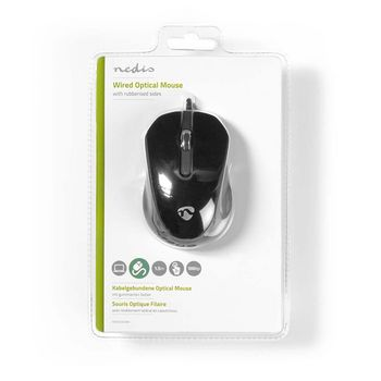 Wired Desktop Mouse | 1000 dpi | 3-Button | Black