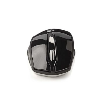 Wireless Mouse with Nano Dongle | Six Button | Black/White