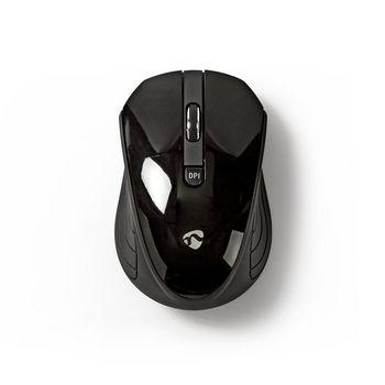 Trådløs mus | 800 / 1200 / 1600 DPI | 3 knapper | Sort