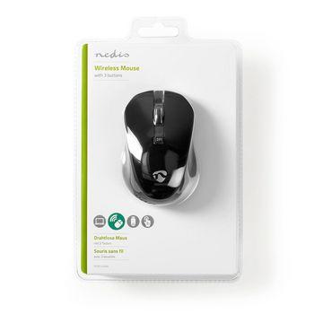 Souris sans fil | 800 / 1200 / 1600 ppp | 3 boutons | Noir