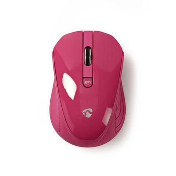 Trådløs mus | 800 / 1200 / 1600 DPI | 3 knapper | Pink