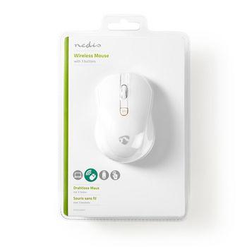 Wireless Mouse | 800 / 1200 / 1600 DPI | 3-Button | White