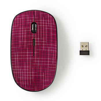 Wireless Mouse | 1600 DPI | 3-Button | Pink