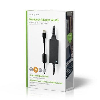 Notebook Adapter 45 W | Lenovo Square 11 x 5.6 mm | 20 V / 2.25 A | Used for LENOVO | Power Cord Included