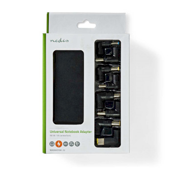 Notebook-Adapter | Universeel 8 Connectoren | 90 W | Uitgang 15 V - 20 V / 6 A (Max.)
