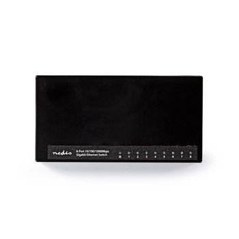 Network Switch | 8 Ports | 1 Gbps | LED Indicator Lights