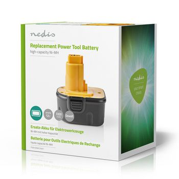 Power Tool Battery | Ni-MH | 12 V | 3.3 Ah | 39.6 Wh | Replacement for Dewalt
