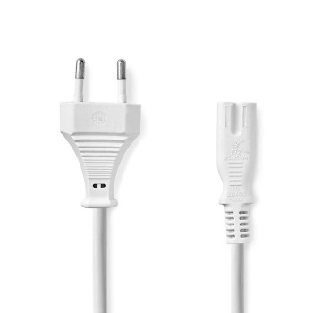 Power Cable | Euro Plug - IEC-320-C7 | 3.0 m | White