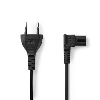 Power Cable   Euro Plug - IEC-320-C7 Angled Left/Right   2.0 m   Black