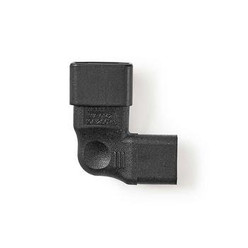 Strømstik   IEC-320-C13-hunstik - IEC-320-C14-hanstik, vinklet venstre/højre   Sort