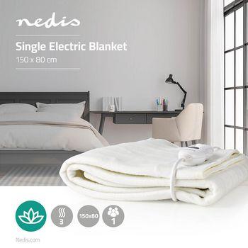 Electric Blanket   80 x 150 cm   3-Heat Settings   Indicator Light   Overheat protection