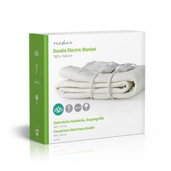 Double Electric Blanket | 140 x 160 cm | 3-Heat Settings | Indicator Light | Overheat protection