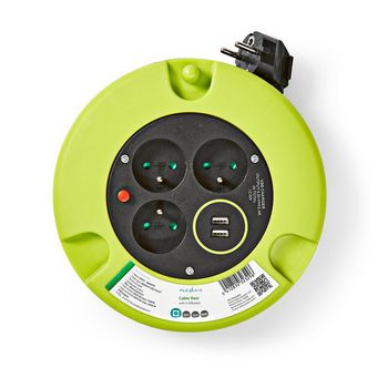 Cable Reel | 5.0 m | 3x 1.5 mm² | Thermal Cutoff | Type E & USB
