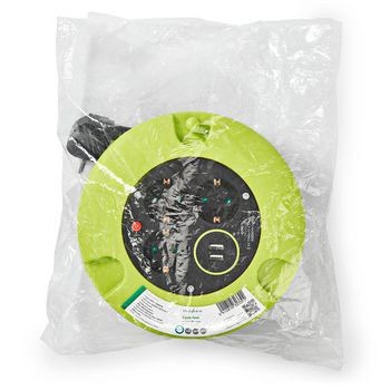 Kabelhaspel | 5,0 m | 3x 1,5 mm² | Thermische Beveiliging | Schuko & USB