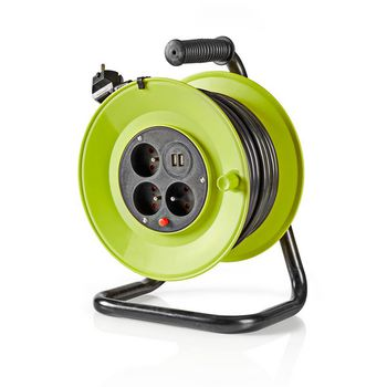 Cable Reel | 25.0 m | 3x 1.5 mm² | Thermal Cutoff | Type E & USB