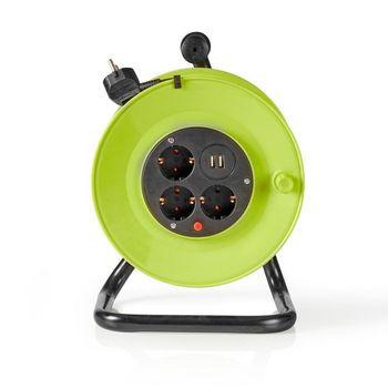 Kabelový Buben | 25,0 m | 3x 1,5 mm² | Tepelná Elektrická Pojistka | Schuko a USB