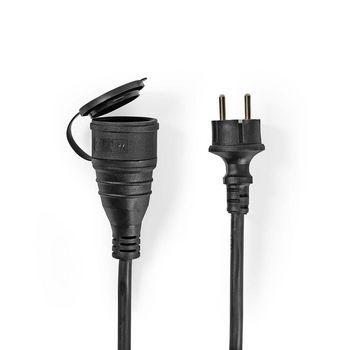 Verlengkabel | 15 m | H05VV-F 3G1.5 | IP44 | Zwart
