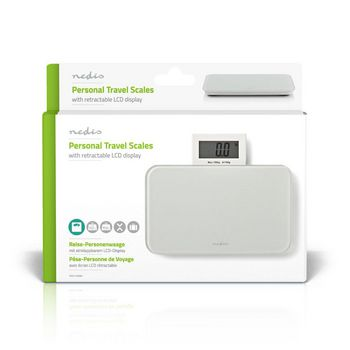 Digital Travel Scale | Glass | 150 kg | White