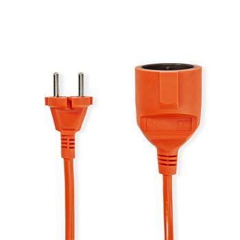 Verlengkabel | 20 m | H05VV-F 2X1.5 | Oranje