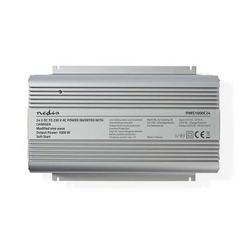 Power Inverter Modified Sine Wave | 24 V DC - 230 V AC | 1000 W | 2x Schuko Output | Charger Function