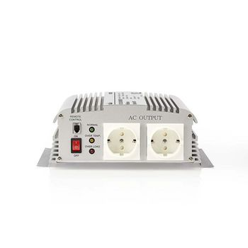 Power Inverter Modified Sine Wave | 12 V DC - 230 V AC | 1000 W | 2x Schuko Output