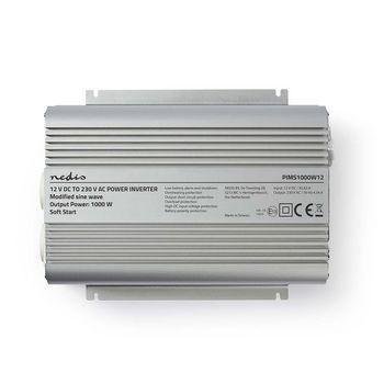 Power Inverter Modified Sine Wave | 12 V DC - 230 V AC | 1000 W | 2x Schuko Output