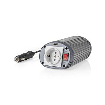 Power Inverter Modified Sine Wave | 12 V DC - 230 V AC | 150 W | 1x Schuko / 1x USB Output