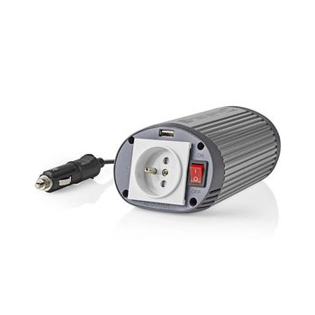 Power Inverter Modified Sine Wave | 24 V DC - 230 V AC | 150 W | 1x Pin Earth / 1x USB Output