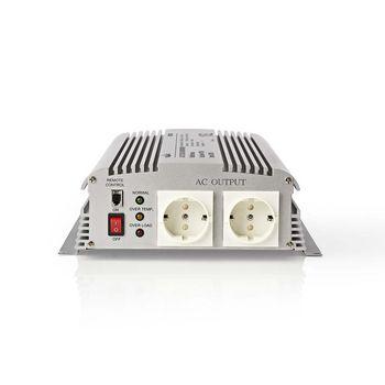 Power Inverter Modified Sine Wave | 24 V DC - 230 V AC | 1700 W | 2x Schuko Output