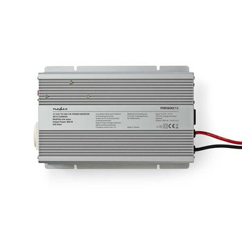 Power Inverter Modified Sine Wave   12 V DC - 230 V AC   600 W   1x Schuko Output   Charger Function