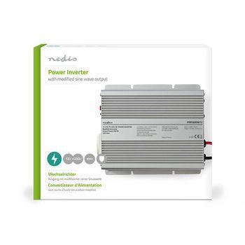 Power Inverter Modified Sine Wave | 12 V DC - 230 V AC | 600 W | 1x Schuko Output